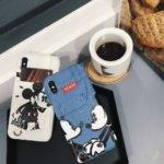 Peeps™ Cute Mickey Mouse Jeans Pocket case