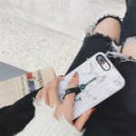 PEEPS™ Marble Finger Loop Case for iPhone