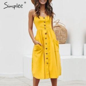 Women Pocket polka dot dress